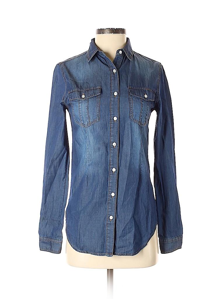 JW (JW Style) Women Long Sleeve Button-Down Shirt Size S