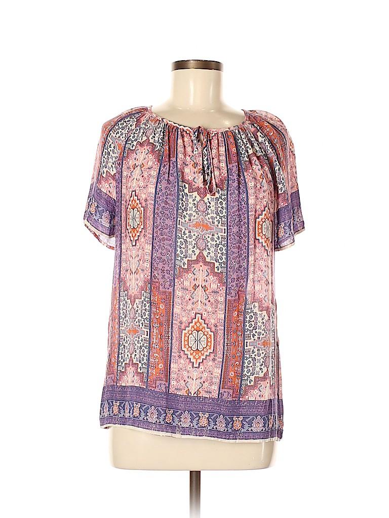 Lucky Brand Women Short Sleeve Blouse Size M