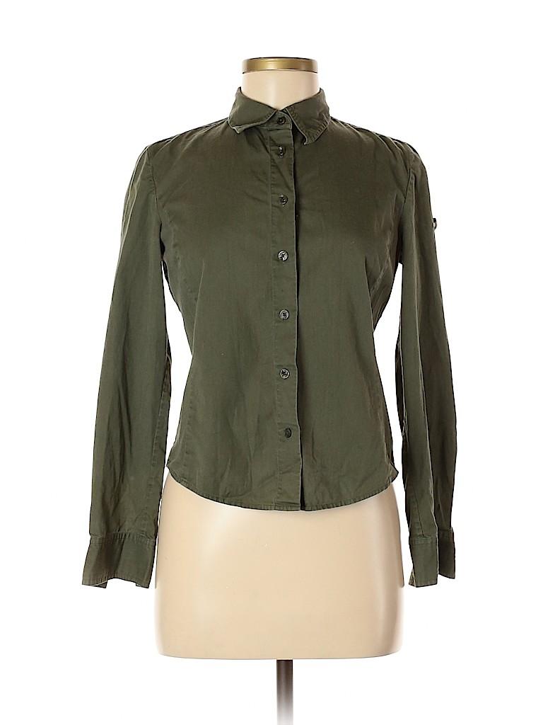 Armani Exchange Women Long Sleeve Button-Down Shirt Size S