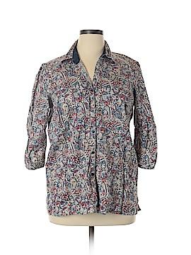 58fe8f5dbd60c DressBarn 3 4 Sleeve Button-Down Shirt Size 18 - 20 Plus (Plus