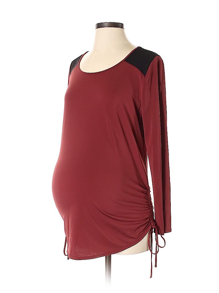 Noir Maternity Women Long Sleeve Top Size S (Maternity)