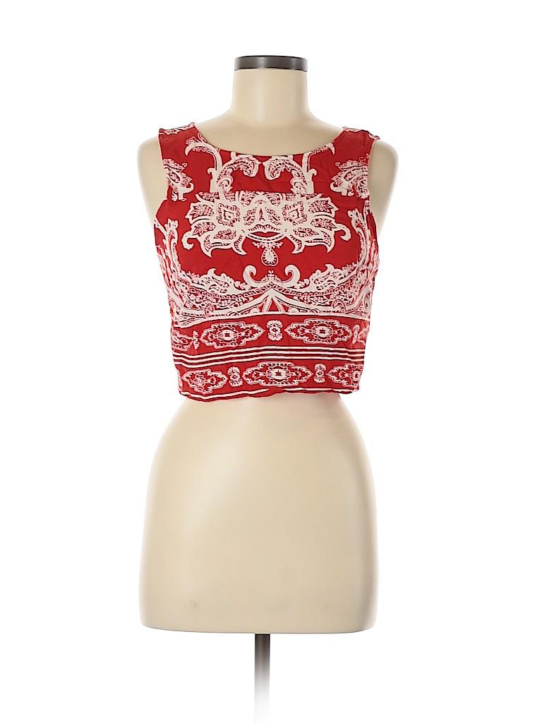 Angie Women Sleeveless Blouse Size M