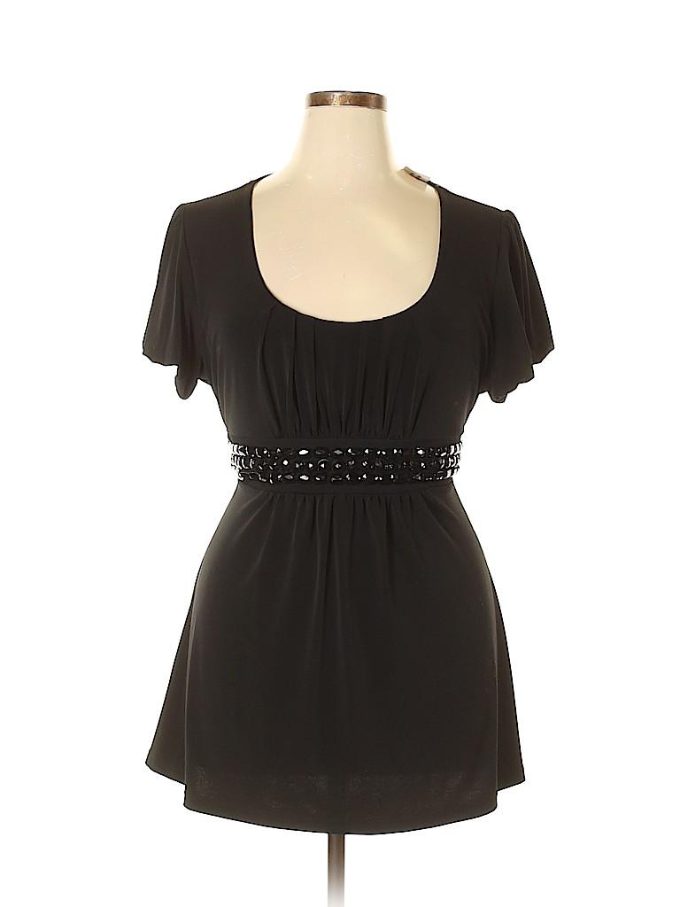 B. Moss Women Short Sleeve Top Size XL