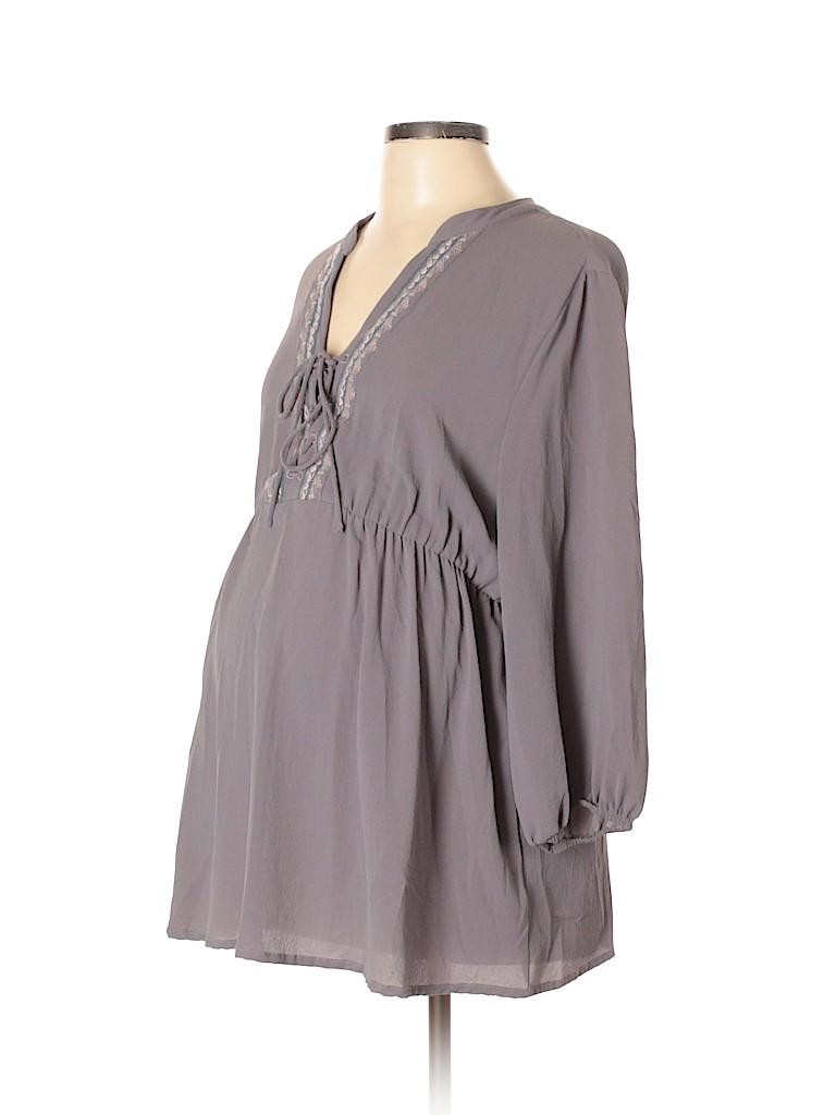 OCTAVIA Maternity Women 3/4 Sleeve Blouse Size L (Maternity)