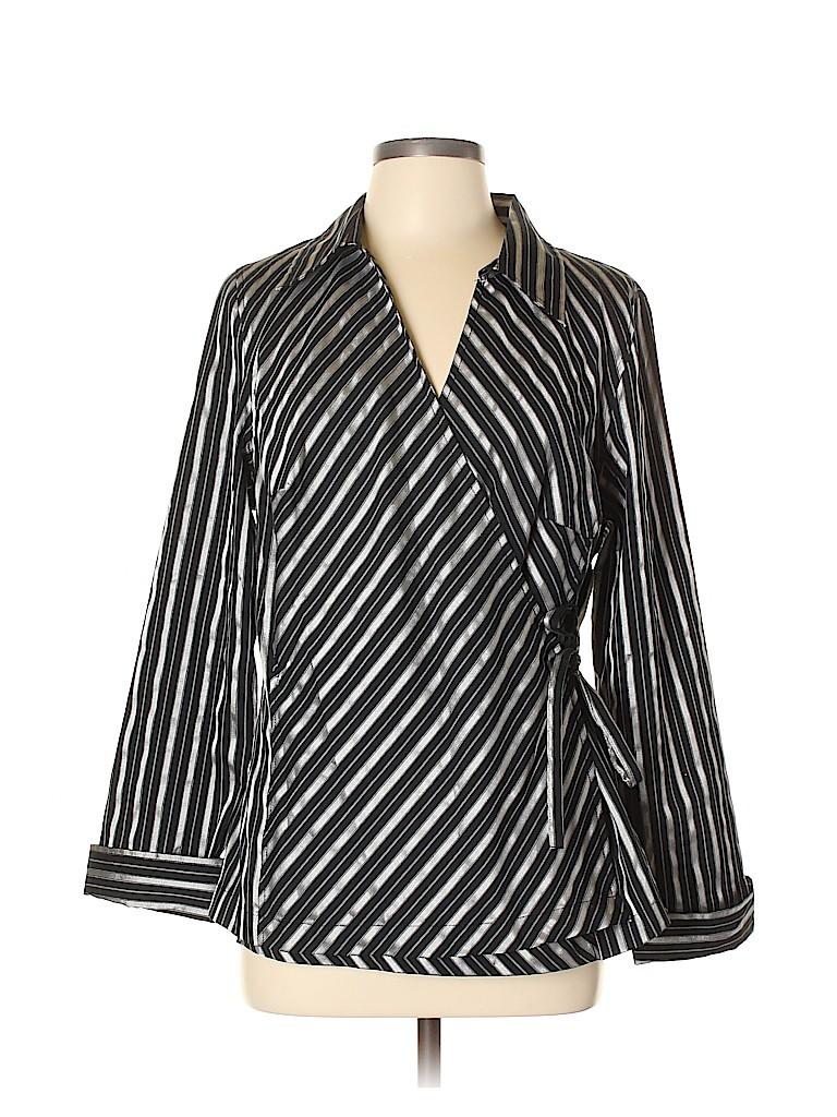 Avenue Women 3/4 Sleeve Blouse Size 14 (Plus)