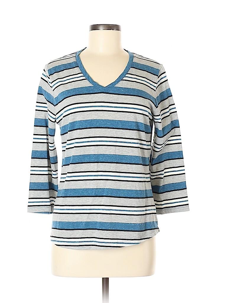 Basic Editions Women 3/4 Sleeve T-Shirt Size M