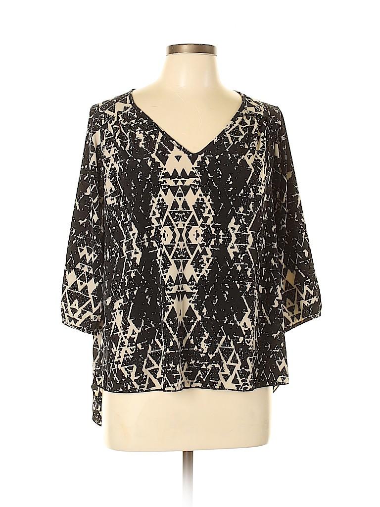 Renee C. Women 3/4 Sleeve Blouse Size L