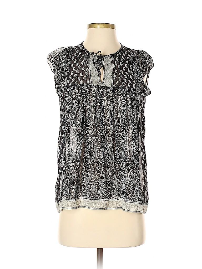 Ulla Johnson Women Short Sleeve Silk Top Size 2