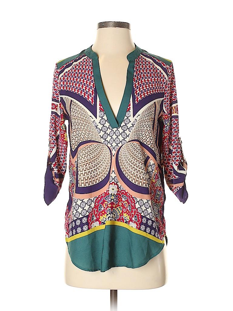 Renee C. Women 3/4 Sleeve Blouse Size S