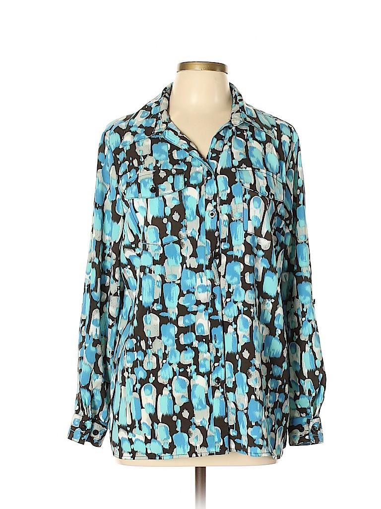 Elementz Women Long Sleeve Blouse Size L