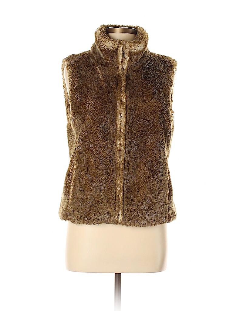 Ann Taylor LOFT Women Faux Fur Vest Size 8