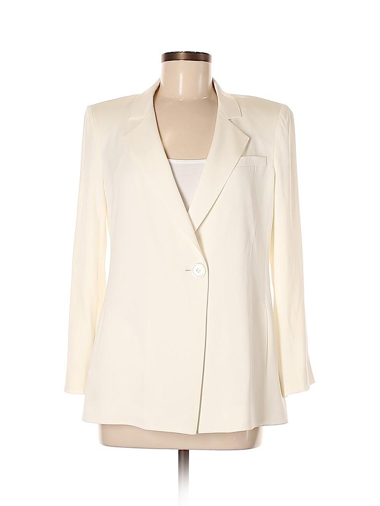 Armani Collezioni Women Silk Blazer Size 42 (FR)