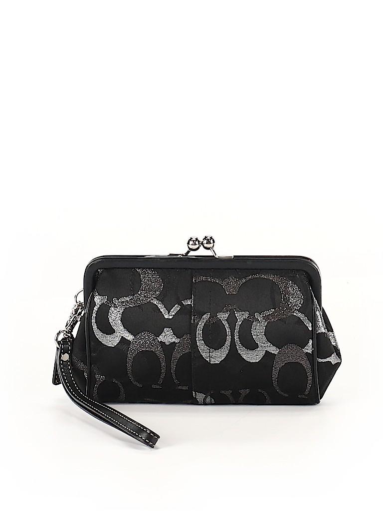 Coach Print Black Wristlet One Size - 73% off  fe2e2aa431f86