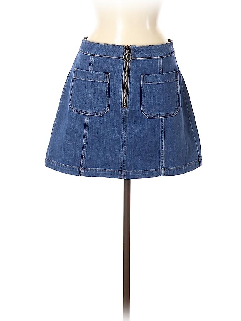 Madewell Women Denim Skirt Size 30 (Plus)