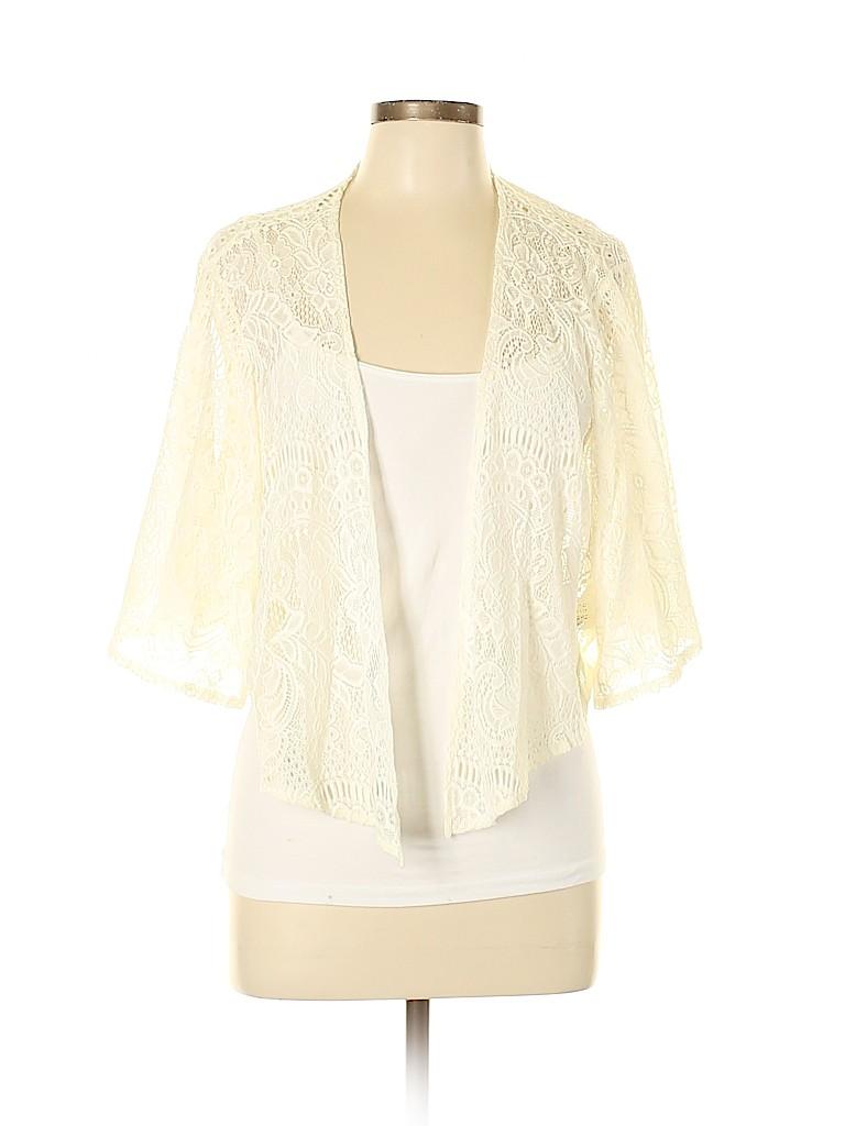 ca47bb86820545 Torrid 100% Nylon Crochet Yellow Kimono Size 2X (Plus) - 66% off ...