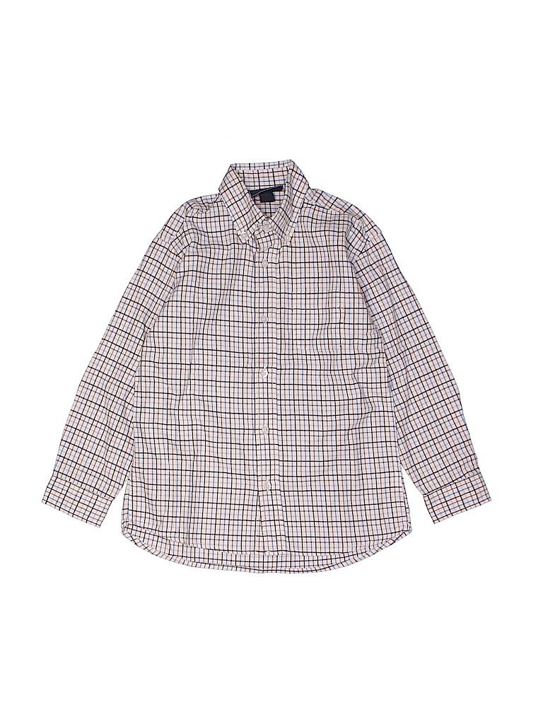 Oscar De La Renta Boys Long Sleeve Button-Down Shirt Size 4