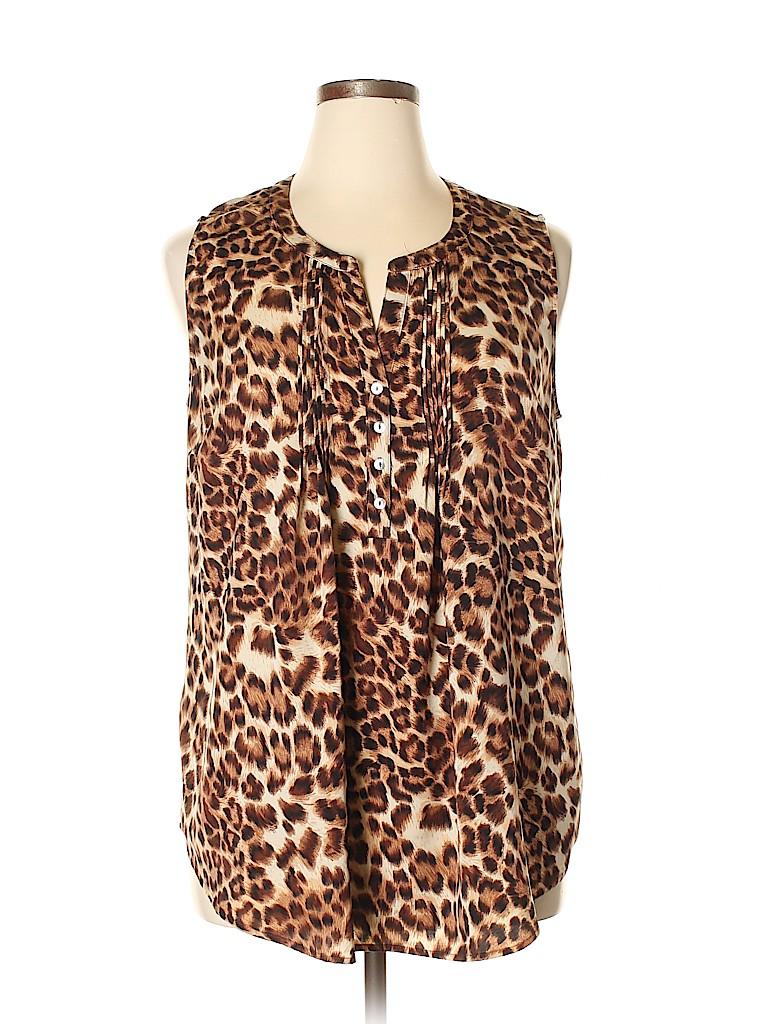 Daniel Rainn Women Sleeveless Blouse Size XL