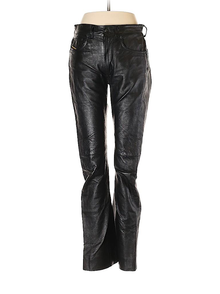 Diesel Women Leather Pants 27 Waist