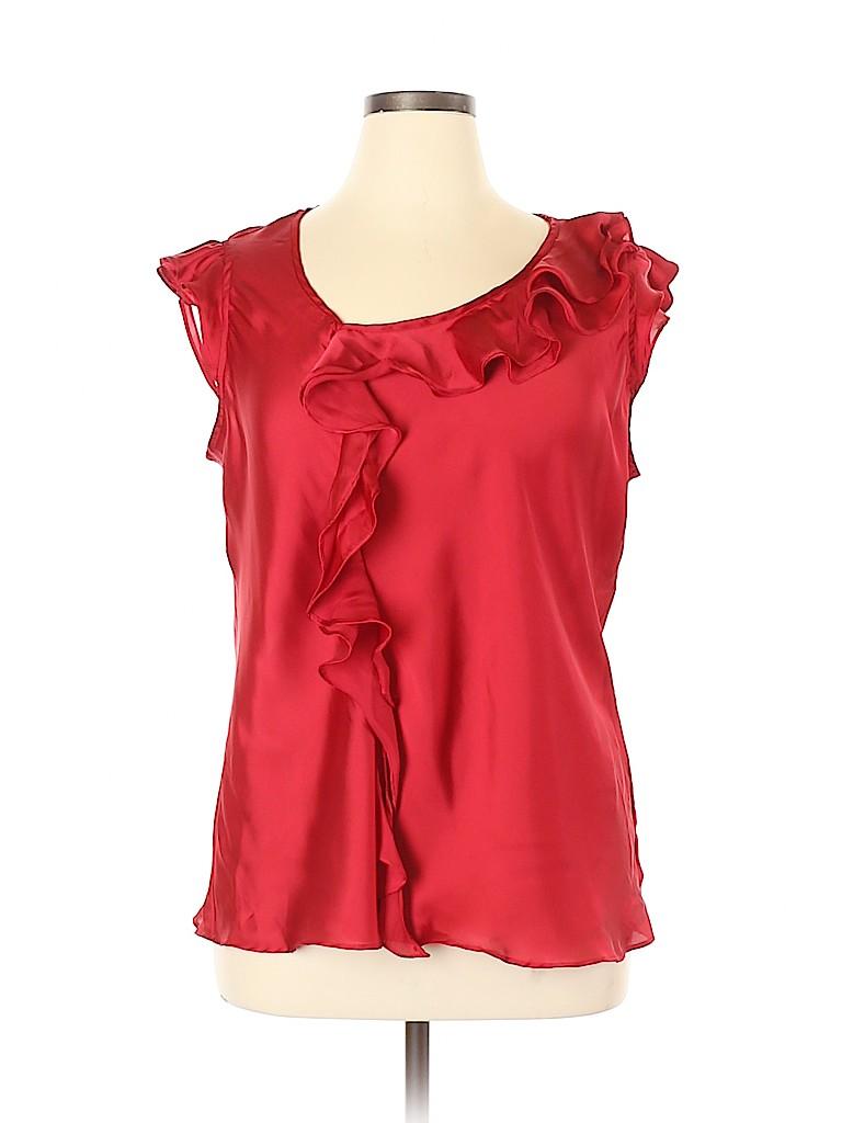 Sunny Leigh Women Short Sleeve Blouse Size 1X (Plus)