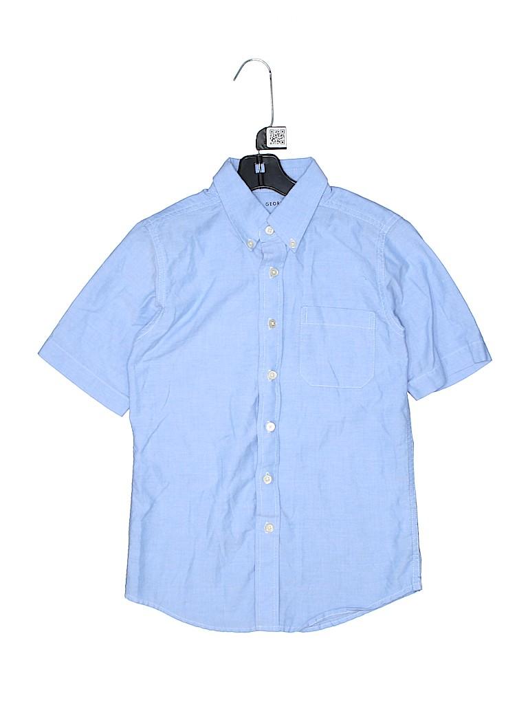 George Boys Short Sleeve Button-Down Shirt Size 10