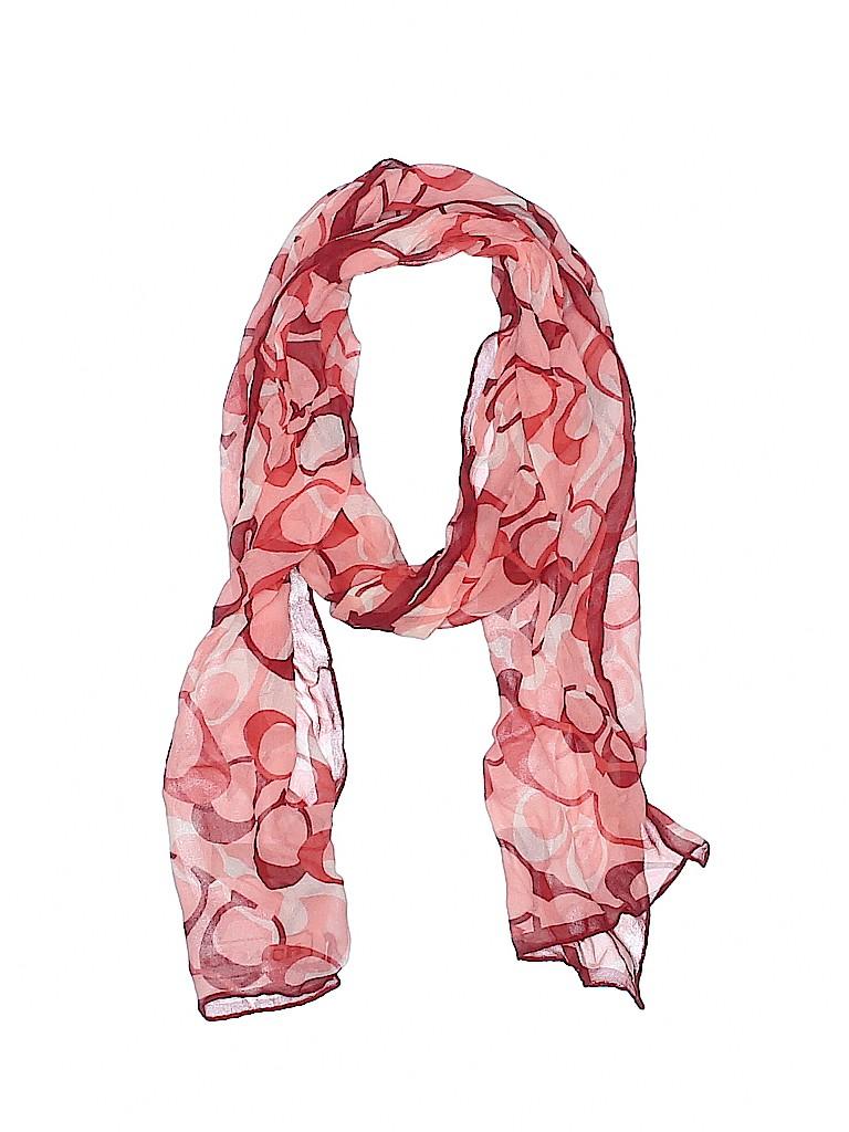 Coach 100% Silk Print Pink Silk Scarf One Size - 79% off  518726b397fbf