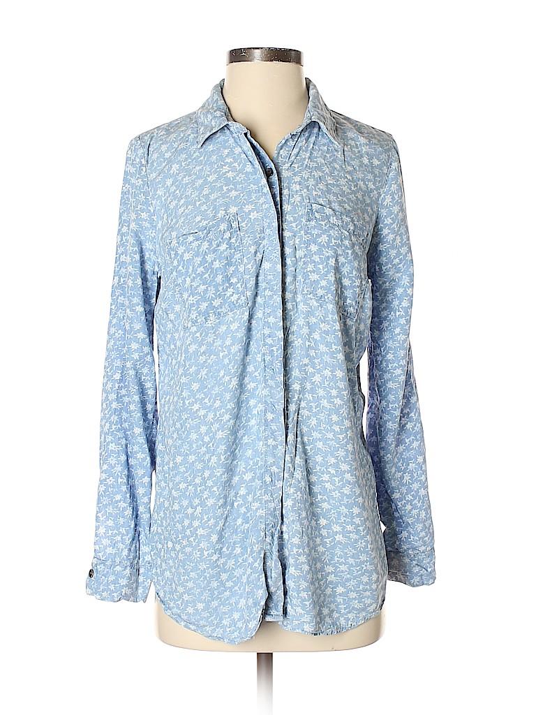 Splendid Women Long Sleeve Button-Down Shirt Size S