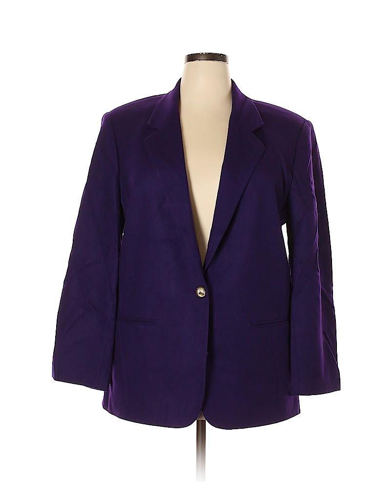 Sag Harbor Women Wool Blazer Size 18 (Plus)