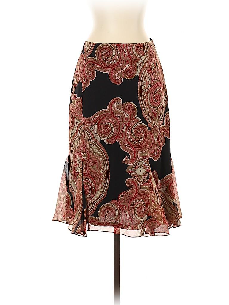 INC International Concepts Women Silk Skirt Size 8