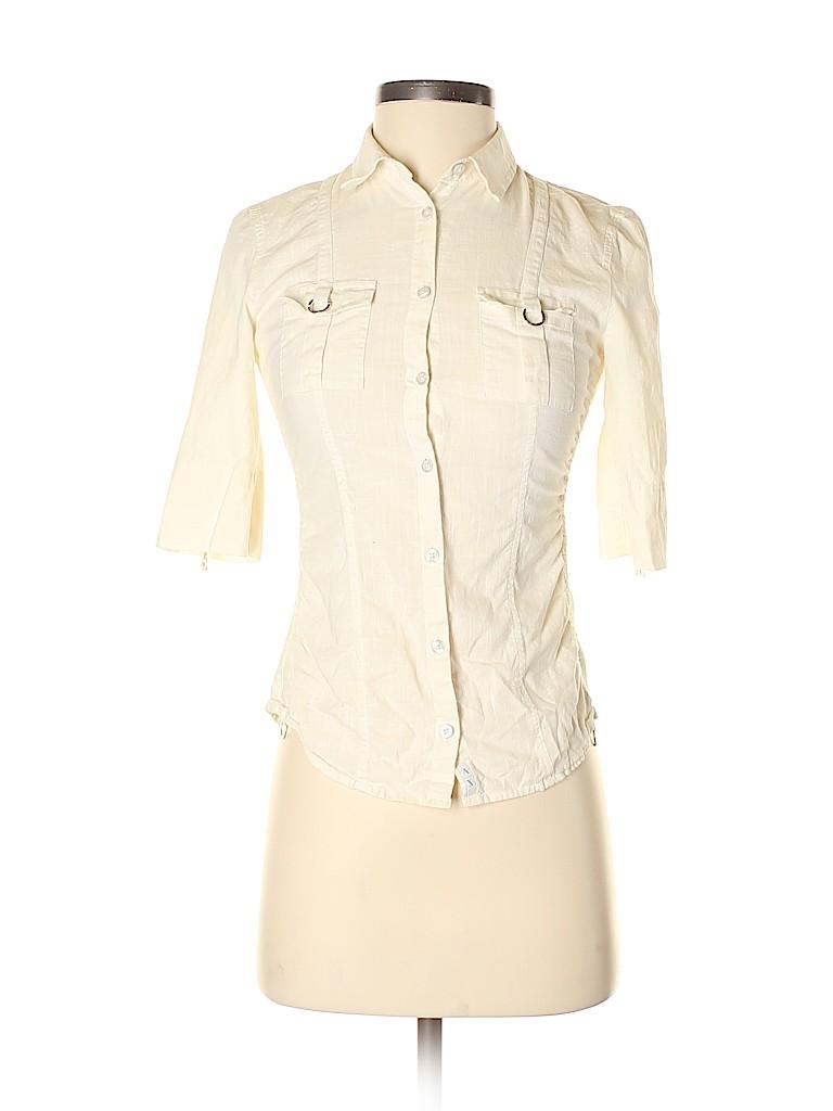 Armani Exchange Women 3/4 Sleeve Button-Down Shirt Size XS