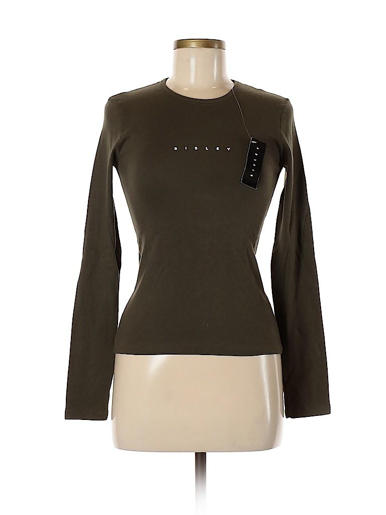 Sisley Women Long Sleeve T-Shirt Size S