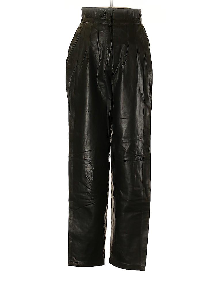 Toffs Women Leather Pants Size 4