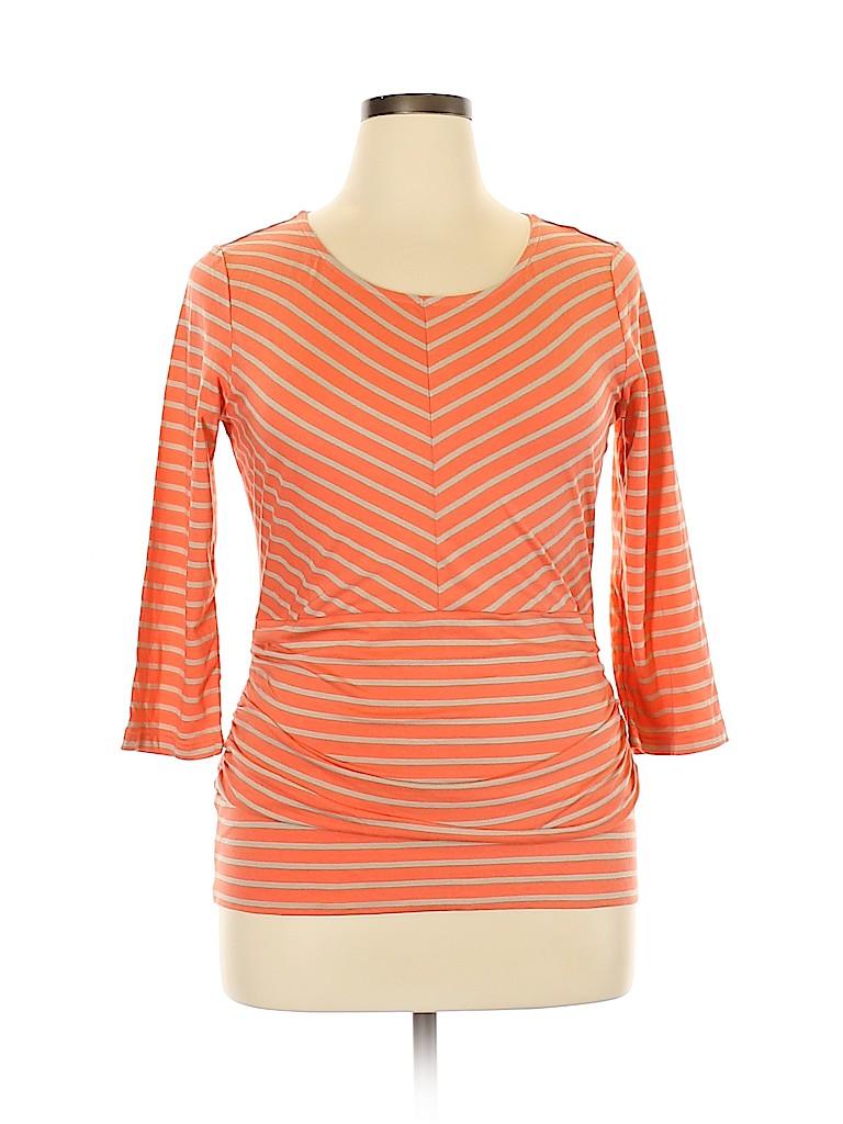 Orvis Women 3/4 Sleeve Top Size L