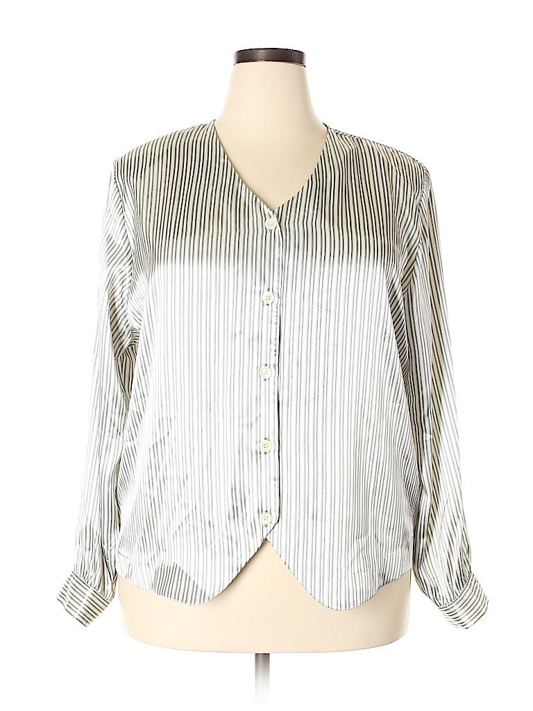 Notations Women Long Sleeve Blouse Size 20W (Plus)