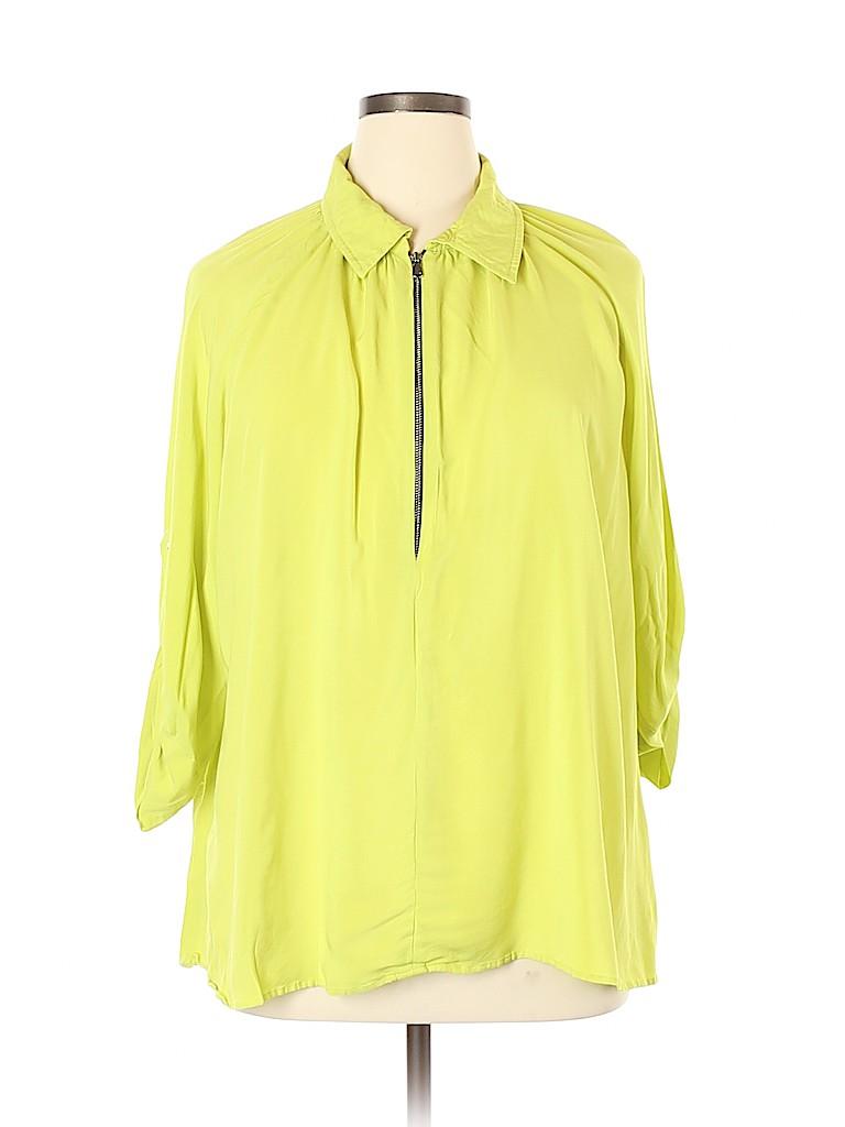 Karen Kane Women 3/4 Sleeve Blouse Size 2X (Plus)