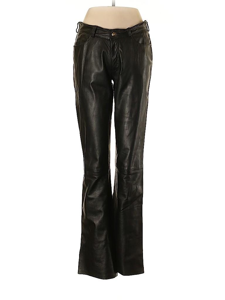 Intermix Women Leather Pants Size 8