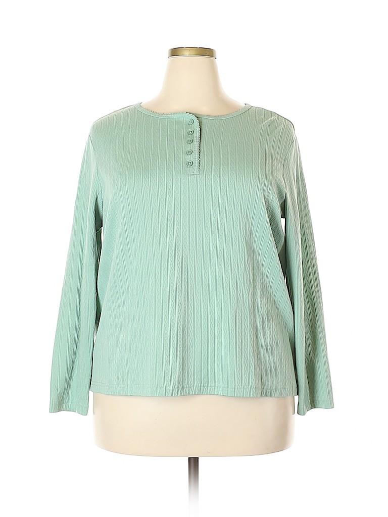 Blair Women Long Sleeve Henley Size 2X (Plus)
