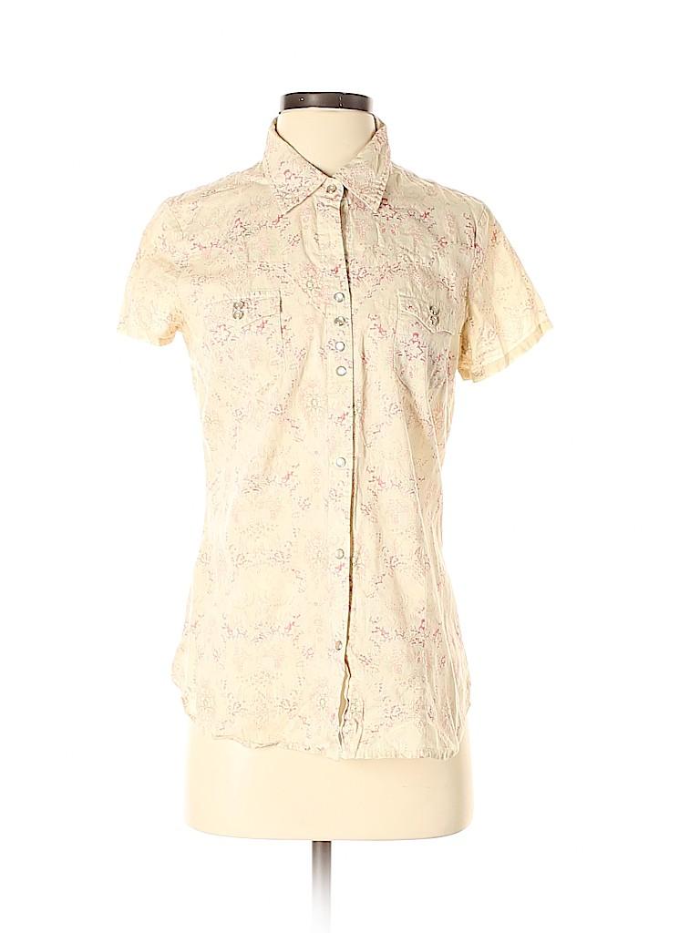 Roper Women Short Sleeve Button-Down Shirt Size S