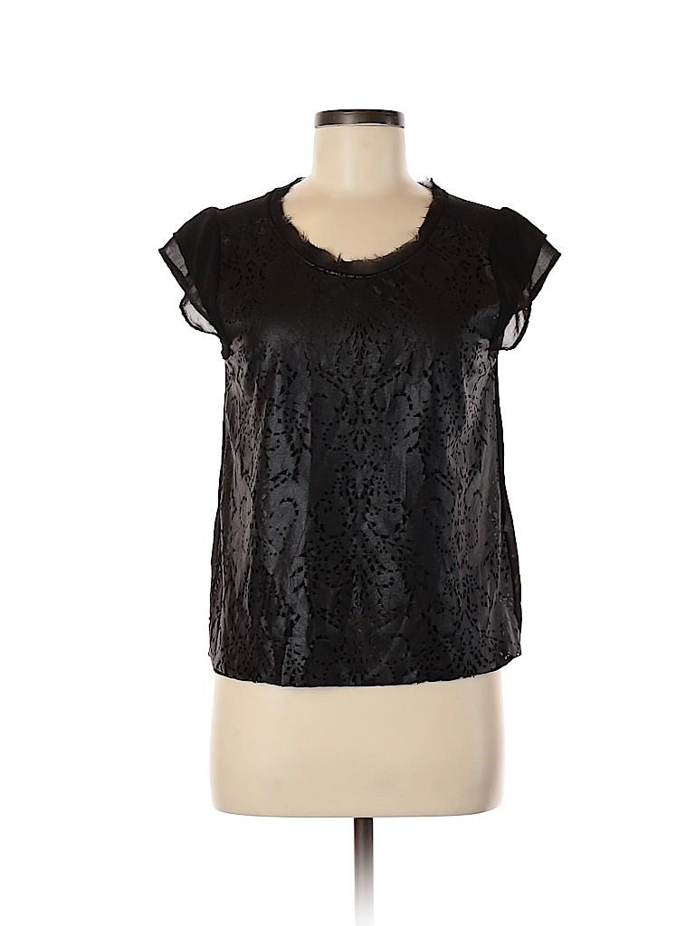 Zara Women Faux Leather Top Size S