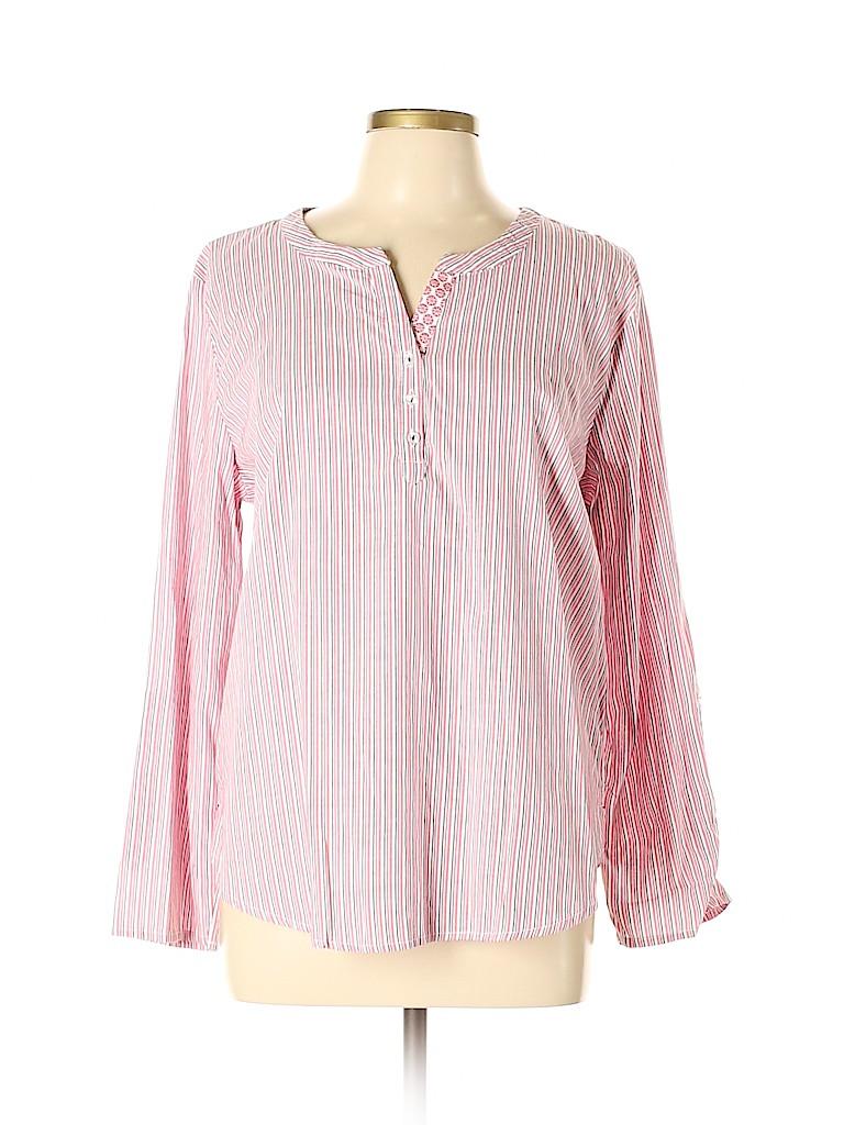 Basic Editions Women Long Sleeve Blouse Size XL