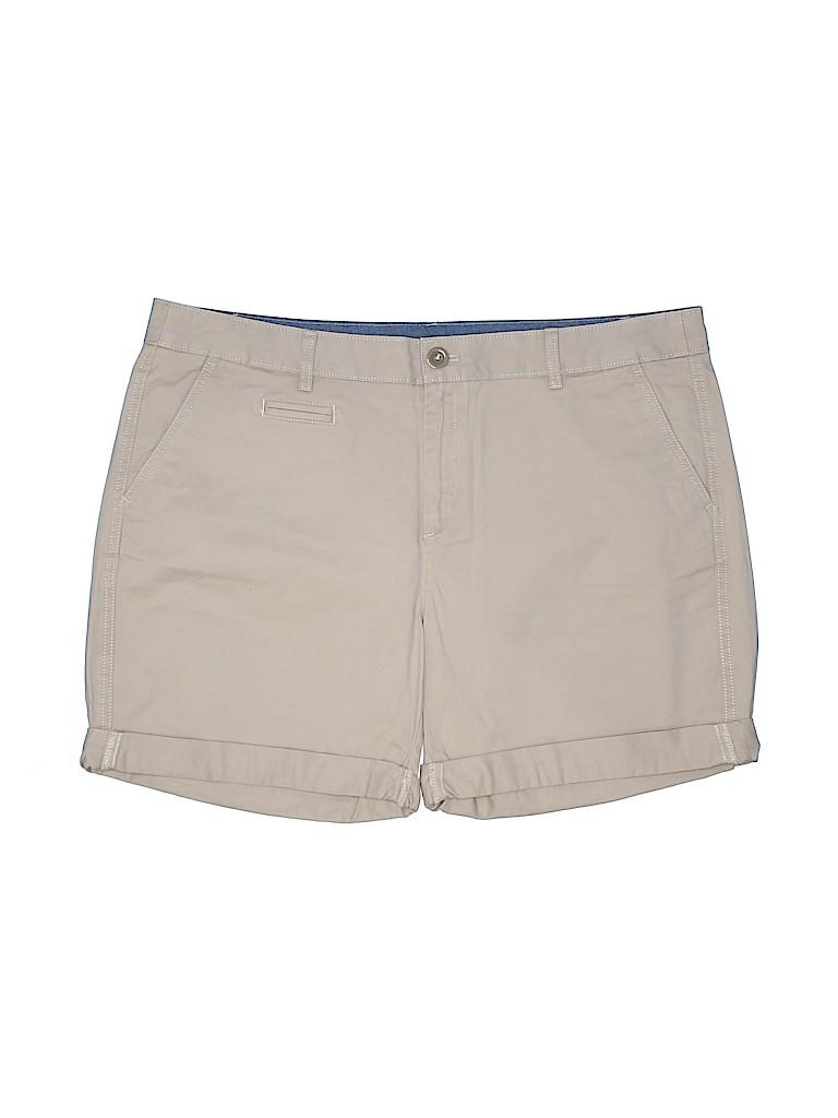 Eddie Bauer Women Khaki Shorts Size 18 (Plus)