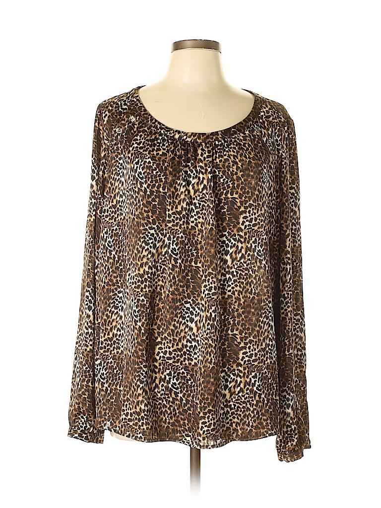 MICHAEL Michael Kors Women Long Sleeve Blouse Size 16