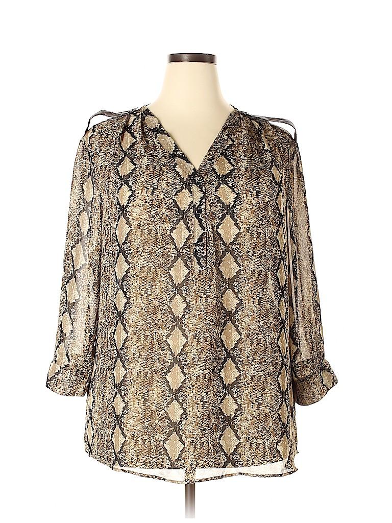 Mix & CO Women 3/4 Sleeve Blouse Size 3X (Plus)