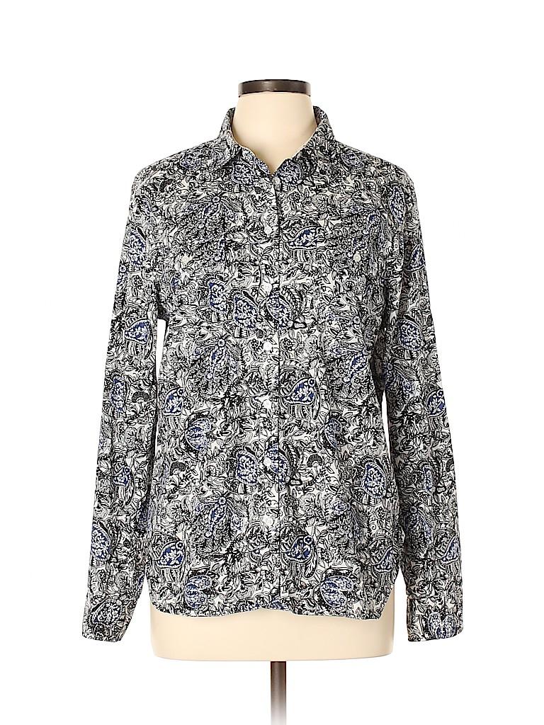Talbots Outlet Women Long Sleeve Button-Down Shirt Size L