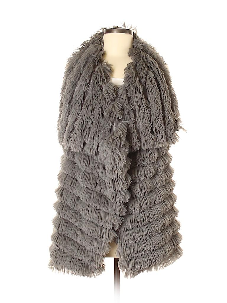 TCEC Women Faux Fur Vest Size M