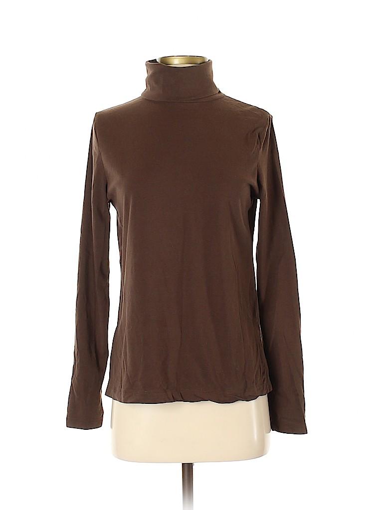 Cherokee Women Long Sleeve Turtleneck Size S
