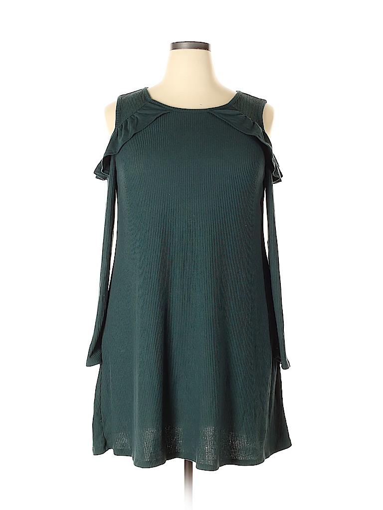 Derek Heart Women Casual Dress Size 2X (Plus)