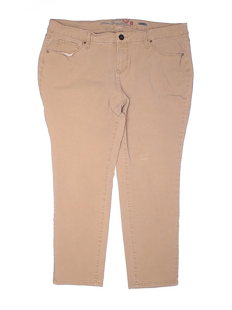 Faded Glory Women Linen Pants Size 18 (Plus)