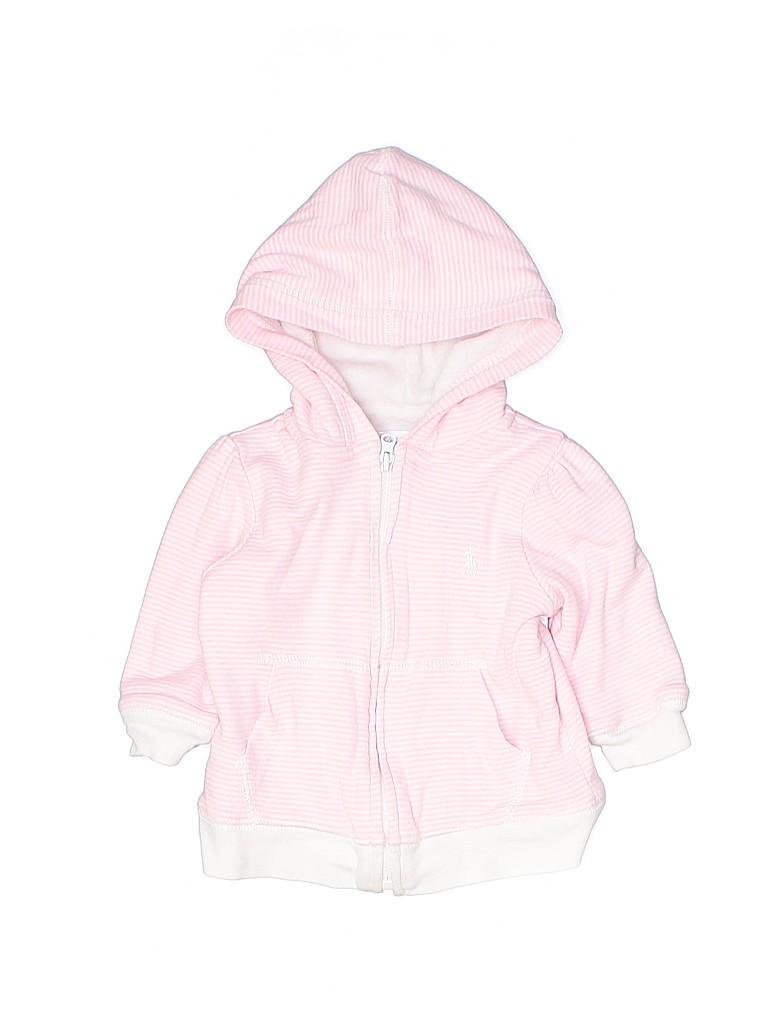 Ralph Lauren Girls Zip Up Hoodie Size 9 mo