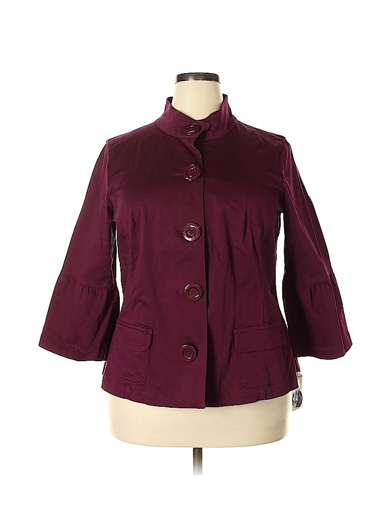 SONOMA life + style Women Jacket Size 1X (Plus)