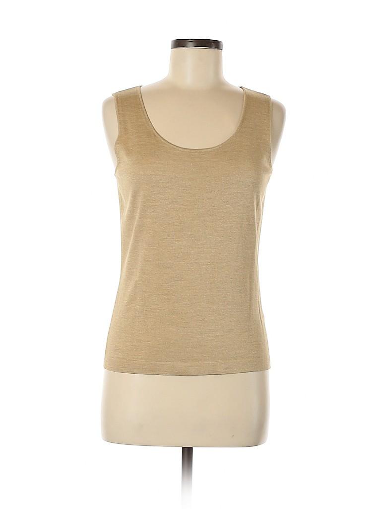 Lafayette 148 New York Women Sleeveless Silk Top Size M